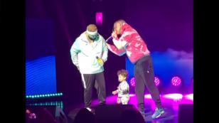 Farruko fue sorprendido por su hijo en pleno concierto [VIDEO]