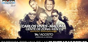 ¡Salieron los ganadores del concierto con Maluma y Carlos Vives en el Jardín de la Cerveza de Arequipa!