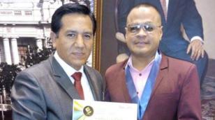 Jhonny Peña, líder de Zaperoko, recibió importante reconocimiento