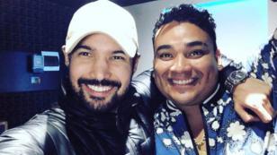 Josimar cantó junto a Ezio Oliva en el lanzamiento de su nuevo tema