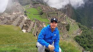 Kalé viajó a Machu Picchu para celebrar su cumpleaños