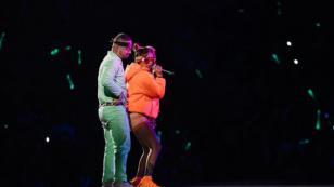 Karol G cantó junto a J Balvin en Estados Unidos