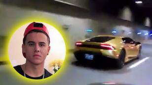 Kevin Roldán y su Lamborghini dorado queman las pistas de Cali [VIDEO]