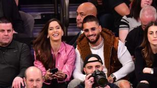 Maluma robó las miradas en un partido de la NBA