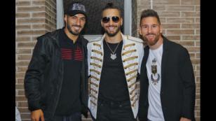 ¡Maluma la pasó de lo lindo con Messi y Suárez! [FOTOS]