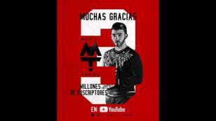 Manuel Turizo alcanzó los 3 millones de suscriptores en YouTube