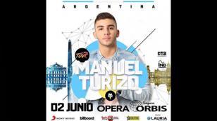 Manuel Turizo anuncia presentación en Argentina