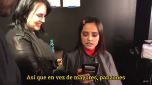 Mira cómo reaccionó Becky G al ver esta parodia de 'Mayores' [VIDEO]