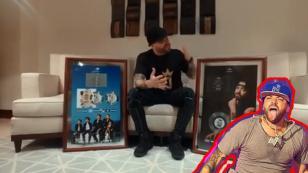 La increíble reacción de Nacho luego de recibir su primer disco diamante