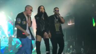 Natti Natasha brilló en el escenario junto a Bad Bunny y Daddy Yankee [VIDEO]