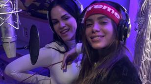 Natti Natasha comparte primeras imágenes de su colaboración con Anitta