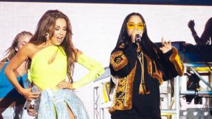 Natti Natasha y Thalía cantaron 'No me acuerdo' por primera vez en vivo