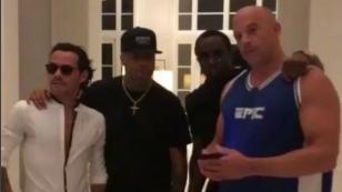 Nicky Jam, Marc Anthony, Vin Diesel y este conocido rapero grabaron divertido video