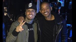 Nicky Jam enseñó a Will Smith a repear en español