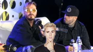 ¡Nicky Jam y J Balvin bromearon con la forma de cantar en español de Justin Bieber! [VIDEO]