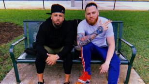 Nicky Jam y Miky Woodz se reunieron en Miami para hablar de su nueva colaboración