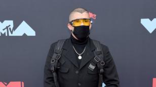Así fue el paso por la alfombra roja de J Balvin y Bad Bunny en los MTV VMAs 2019