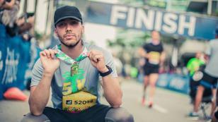Prince Royce cumplió su promesa y corrió en la maratón de Miami