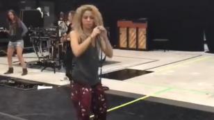 Shakira sorprende con este espectacular baile durante ensayos de su gira [VIDEO]