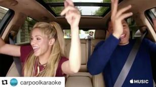 Shakira se pone de copiloto en el Carpool Karaoke de James Corden [VIDEO]