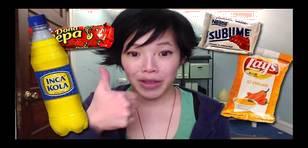 YouTube: Extranjera prueba snacks peruanos por primera vez