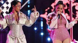 Becky G y Natti Natasha cantaron por primera vez en vivo 'Sin pijama'