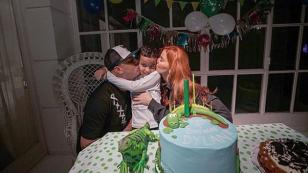 Wisin compartió tierna fotografía junto a su familia