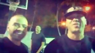 Wisin y Nacho se enfrentaron en un duelo nocturno de básquet [VIDEO]