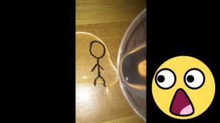 ¿Un dibujo que cambia de forma cuando le echan agua? [VIDEO]