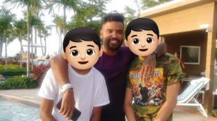 Zion presentó a sus hijos en las redes sociales