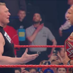 Brock Lesnar quiso estrechar la mano de Goldberg en WWE y esto pasó [VIDEO]
