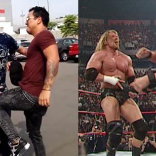 Carloncho y Renzo Winder calientan para Imperio Lucha Libre con una 'street fight' al estilo de WWE [VIDEO]