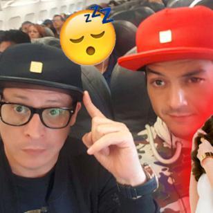 ¿Carloncho y Renzo Winder se encontraron con el novio de Selena Gomez en el avión?