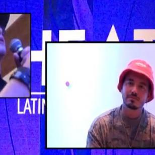 ¡Así reaccionó J Balvin con el regalo que Carloncho le llevó desde Perú! [VIDEO]