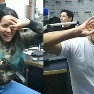Carloncho sorprendió a Renzo y Marianita mientras hacían el #DeleAlliChallenge