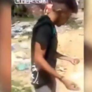 ¡Ladrón recibió terrible castigo en una favela de Brasil!